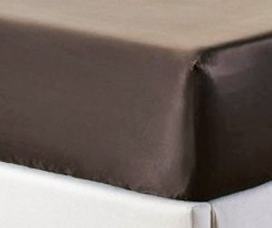 Chocolate silk fitted sheet