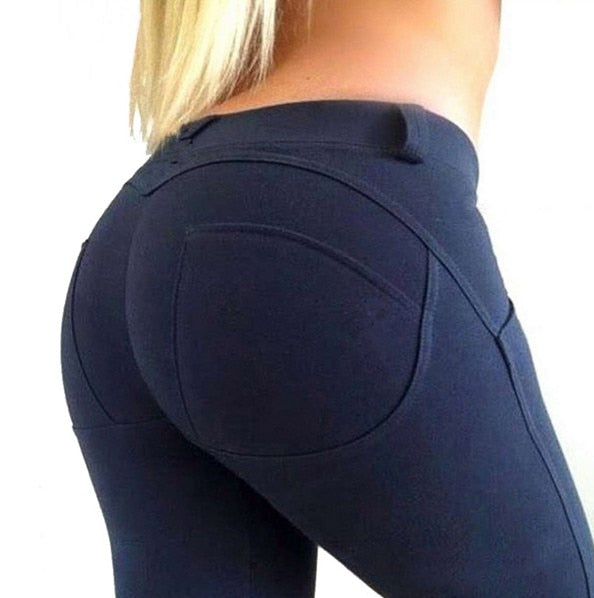 HEYJOE S-XL Women Low Waist Pants Push Up Sexy Hip Solid Trousers For Women Fashion Elastic Leggings Adventure Time for girl