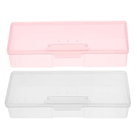 Plastic Transparent Nail Manicure Tools Storage Box Nail Dotting Drawing Pens Buffer Grinding Files Organizer Case Container Box