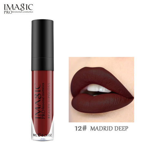 IMAGIC matte  lipgloss Waterproof Long Lasting Gloss Beauty makeup lip gloss fashion lip 1pcs