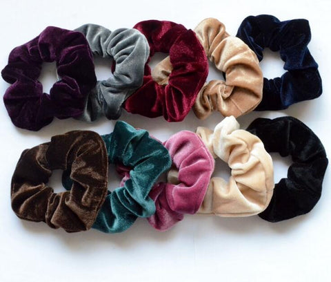 Free Shipping women's winter velvet hair Scrunchies Hair Tie Hair Accessories Ponytail Holder Hair