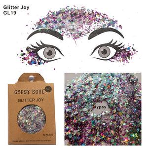 GL19 one pack of Mixed Color Shape Gypsy Soul Forehead Glitter Hair Body Sequins  Decorations  Festival Body Dance  Makeup  Art