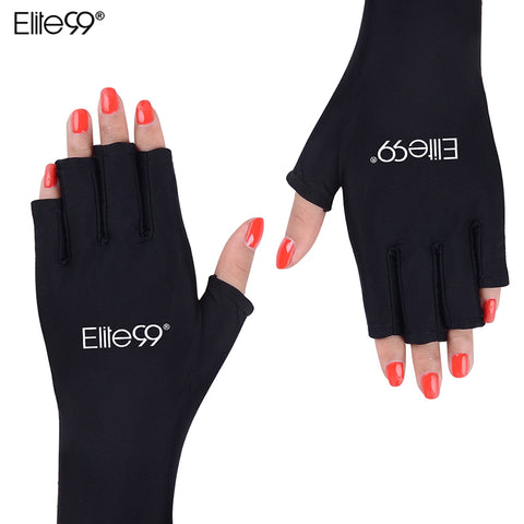 Elite99 Anti UV Gloves UV Shield Glove Fingerless Manicure Nail Art Tools LED UV Lamp Nail Dryer Radiation Protection 1 Pair