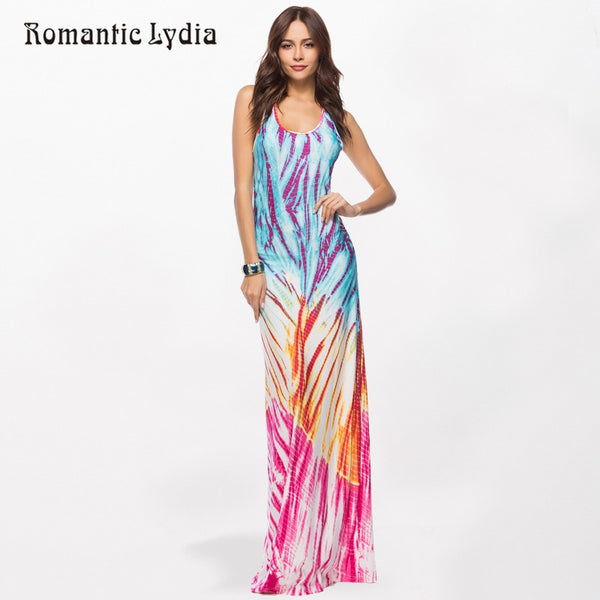 Women Boho Bohemian Floor Length Maxi Dresses Off Shoulder Sleeveless Elegant Bodycon Party Long Beach Summer Dress 2018