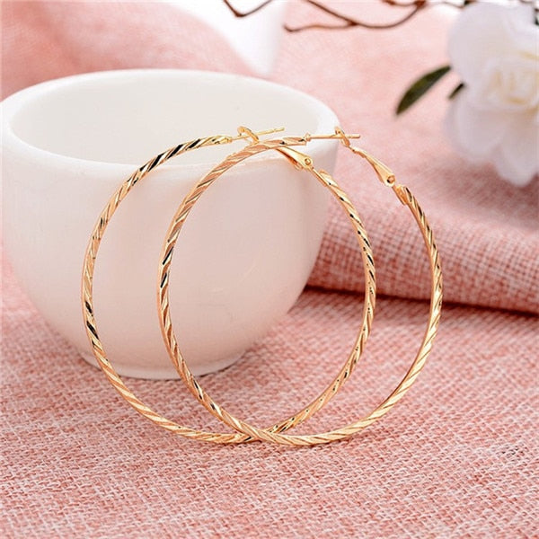 Hesiod Fashion New 6 Pairs/Set Gold Silver Small Big Circle Hoop Earrings for Women Steampunk Round Earring Sets