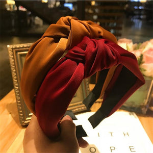 Haimeikang Solid Colors Hair  Knotted Hair Band for Women Headbands Hairbands Headwear 2018 New Arrival