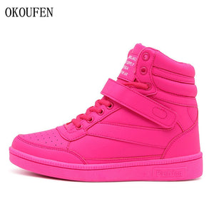 OKOUFEN Winter Shoes Women Sneakers Height Increasing Outdoor Women Sport Shoes Woman Running Shoes Zapatillas Deportivas Mujer