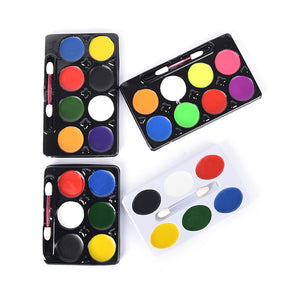 6/8Colors Face Paint Halloween Makeup Non-toxic Water Paint Oil Christmas Party Fancy Dress Devil Fans Body Face Painting Primer