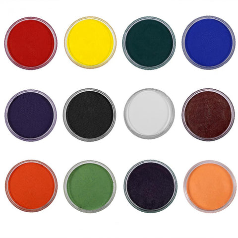 12 Colors Body Paint Professional Cosmetics Water-based Matte Body Painting Pigment Stage Face Color Makeup Halloween Party Tool