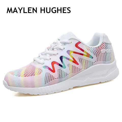2018 new arriving women's sport Light running shoes Lady walking shoes breathable comofort mesh women's athletic shoes sneakers