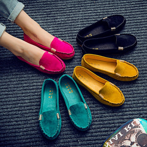 Woman Flats 2018 Pointed Toe Slip on Shoes Woman Ballet Flats PU Leather Loafers Boat Shoes Weave Ladies Shoes Zapatos Mujer