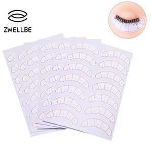 zwellbe 70pairs/pack Paper Patches 3D Eyelash Under Eye Pads Lash Eyelash Extension Practice Eye Tips Sticker Wraps Makeup Tools