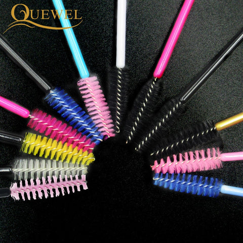 50 PCS Disposable Eyelash Brushes Mascara Wands Eye Lash Eyelash Extension Eyebrow Applicator Cosmetic Makeup Brush Tool Kits