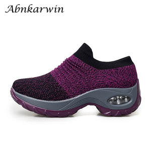 sock sneakers women running shoes height increasing sport shoes breathable mesh ladies shoes elastic zapatillas mujer deportiva