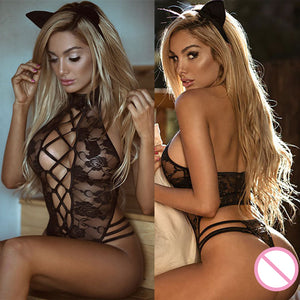 2019 Cosplay Sexy Hot Erotic Costumes Lingerie Lace Dress Babydoll Women's Underwear Nightwear Sleepwear Porno