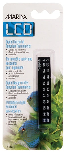 Marina Horizontal LCD Aquarium Thermometer 20 to 30° C (68 to 86° F)