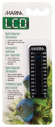 Marina LCD Aquarium Thermometer 19 to 31° C (66 to 88° F)