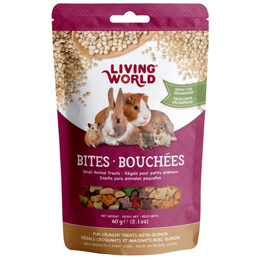 Living World Small Animal Bites with Quinoa