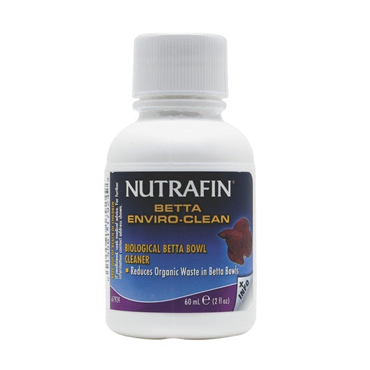 Nutrafin Betta Enviro-Clean Biological Betta Bowl Cleaner 60ml/2floz