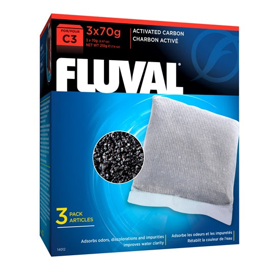 Fluval C3 Activated Carbon 3pk