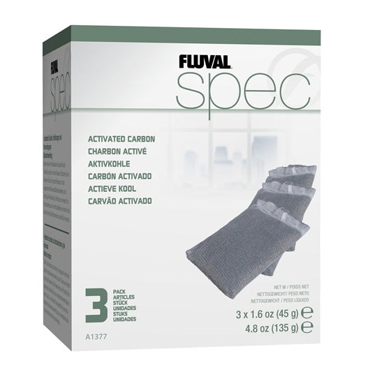 Fluval Spec, Evo, Flex Replacement Carbon - 3 pack