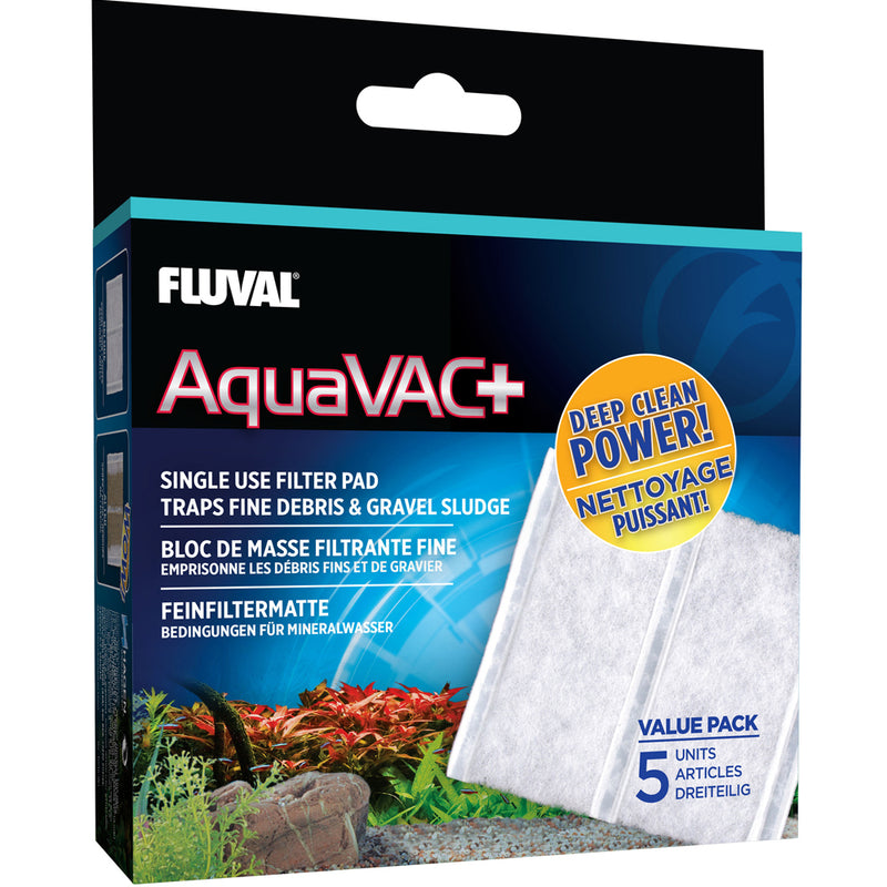 Fluval AquaVAC+ Replacement Fine Filter Pad 5pk