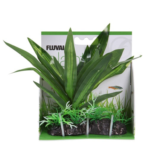 "Fluval Decorative Plant - Lizard's Tail - Medium 6.75""/17 cm with base"