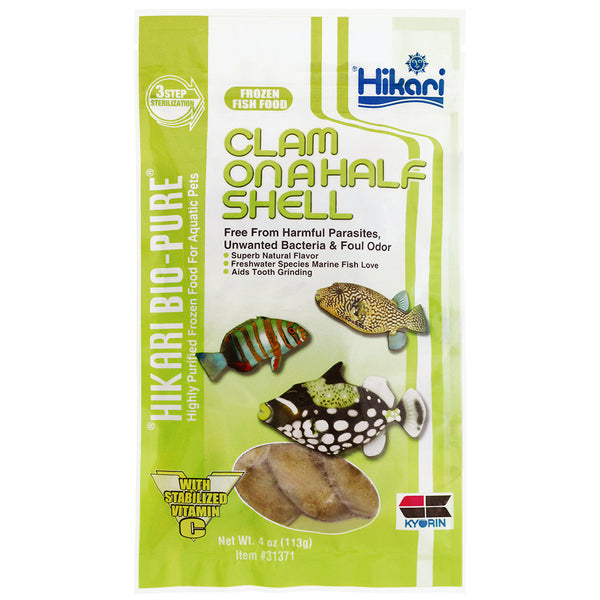 Hikari Frozen Clam On A Half Shell 113g/4oz