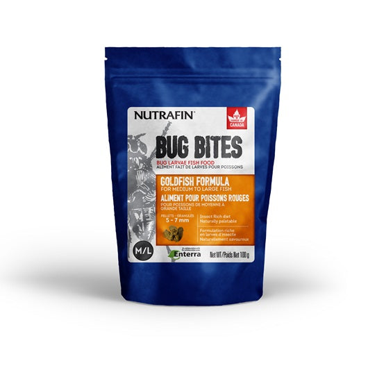 Nutrafin Bug Bites Goldfish Formula - Medium to Large - 5-7 mm pellets - 100 g