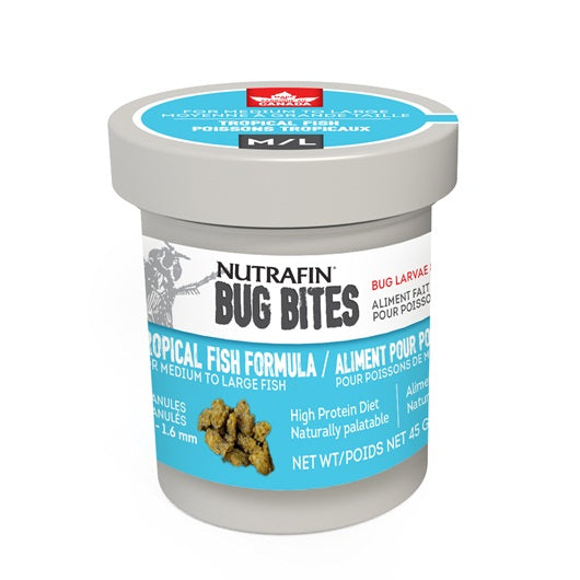Nutrafin Bug Bites Tropical Formula - Medium to Large - 1.4-1.6 mm granules - 45 g