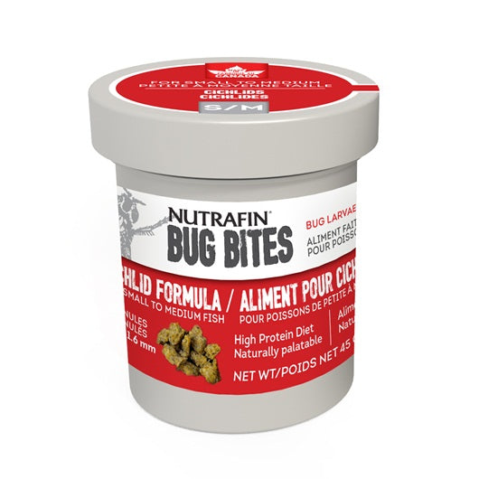 Nutrafin Bug Bites Cichlid Formula - Small to Medium - 1.4-1.6 mm granules - 45 g