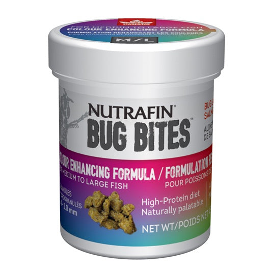 Nutrafin Bug Bites Colour Enhancing Formula - S-M - 1.4-2.0 mm - 45 g (1.6 oz)
