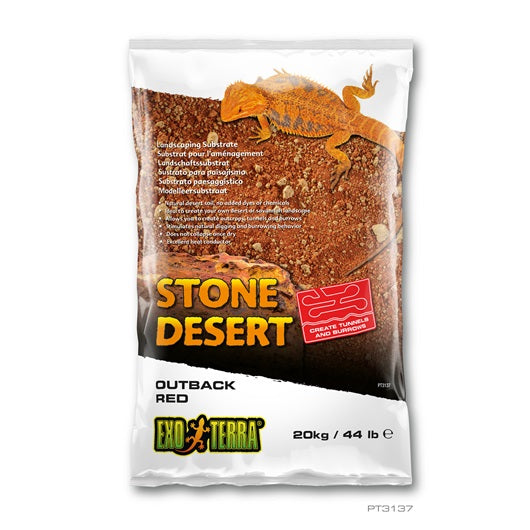 Exo Terra Stone Desert Substrates (Outback Red Stone)