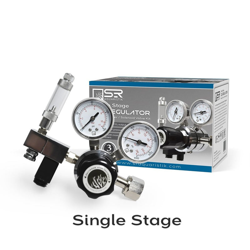 SR Aquaristik Single Stage CO2 Regulator Kit w/bubble Counter/Solenoid Valve