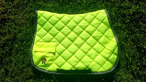 High Vis Saddle blanket - Yellow