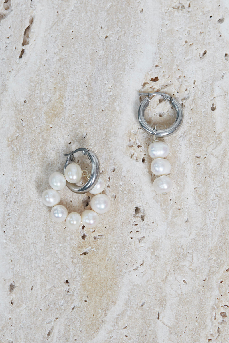 Asymmetrical Drop Loop Earrings