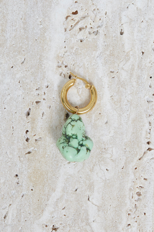 Green Coral Earring