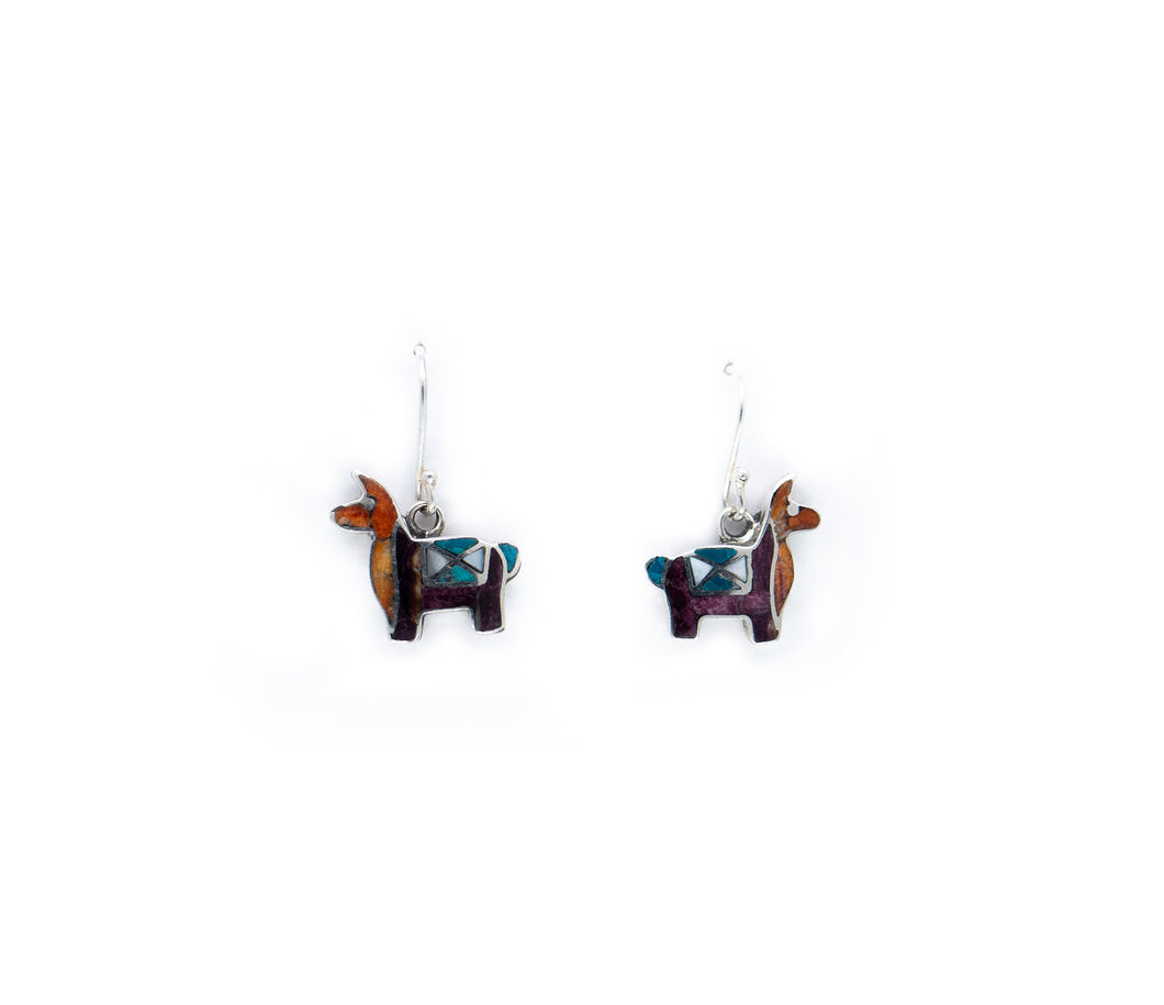 Llama Silver Earrings