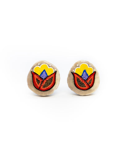 Red Blossom Studs