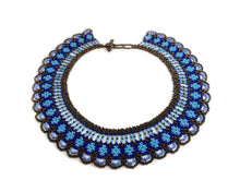 Load image into Gallery viewer, Blue Beaded Necklace