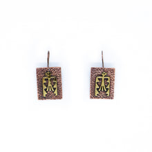 Load image into Gallery viewer, Kuntur Copper/Brass Earrings