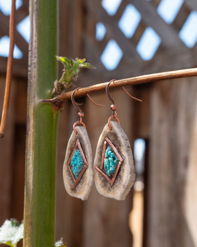Copper Diamond Earrings