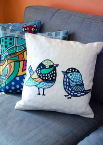 Embroidered Animal Cushion Covers