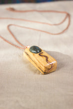 Load image into Gallery viewer, Water and Earth Palosanto Pendant