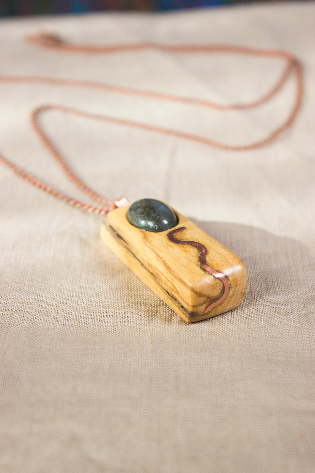 Water and Earth Palosanto Pendant
