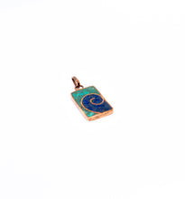 Load image into Gallery viewer, Blue Spiral Pendant