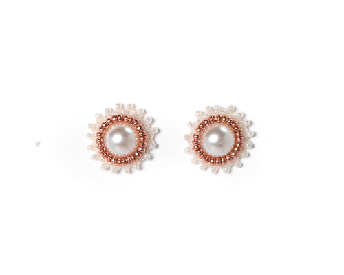 Pink Pearl Studs