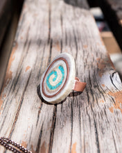Load image into Gallery viewer, Turquoise Spiral Ring