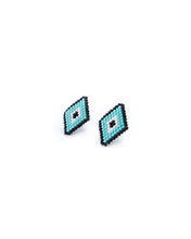 Load image into Gallery viewer, Turquoise Diamond Earrings