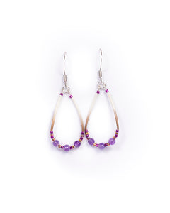 Amethyst + Quill Earrings
